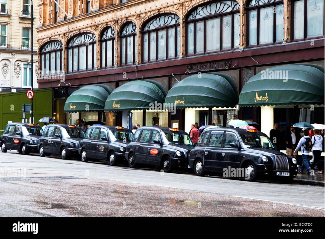 Queue of Black Cabs - Stock Image
