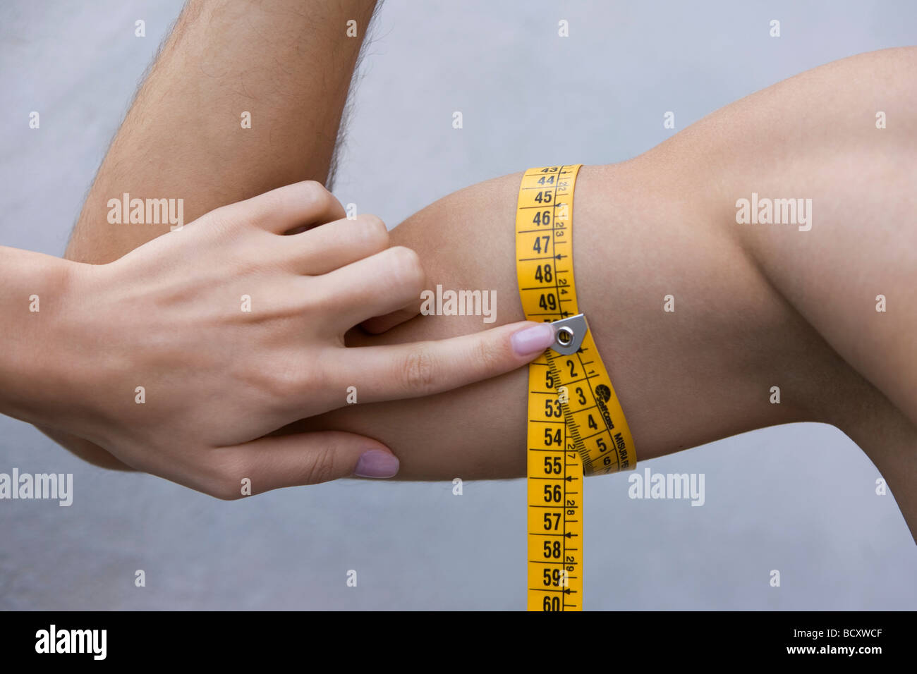 measure of biceps - Stock Image