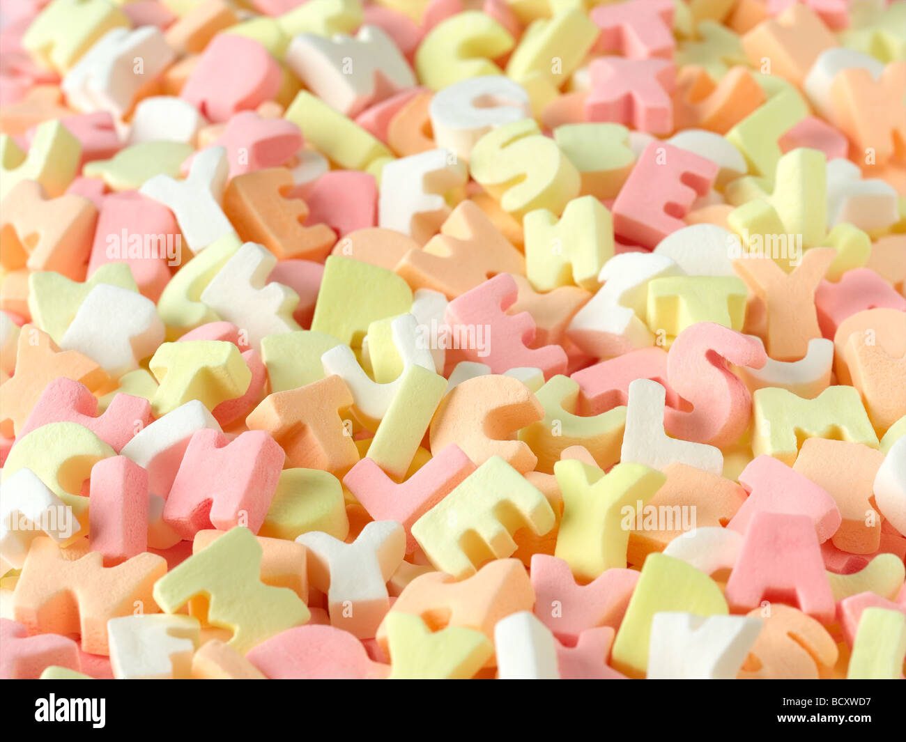 alphabet candy - Stock Image