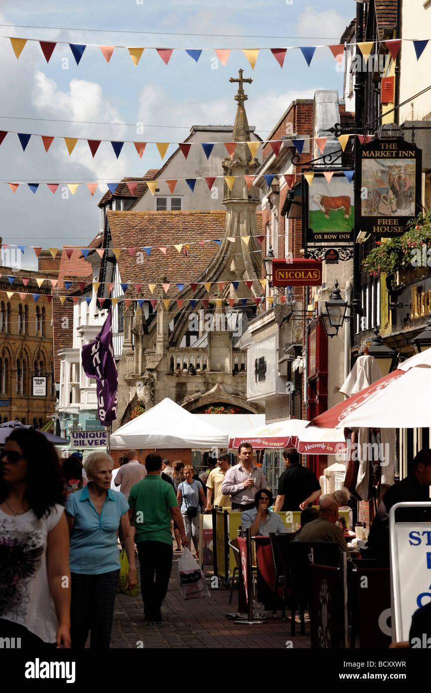 Butcher Row Salisbury Wiltshire England - Stock Image