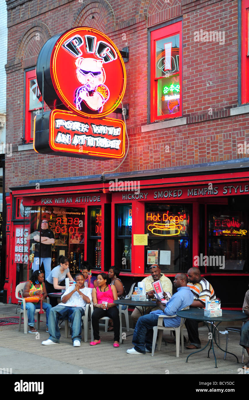 Tennessee Memphis Beale Street Pig Restaurant On Beale Bbq