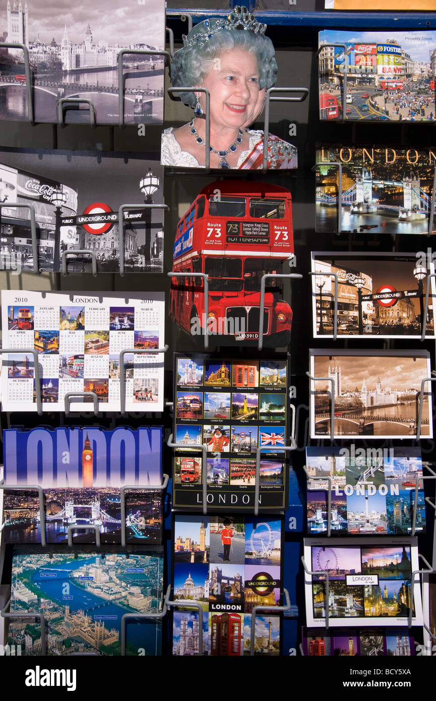 Postcards on sale London United Kingdom - Stock Image
