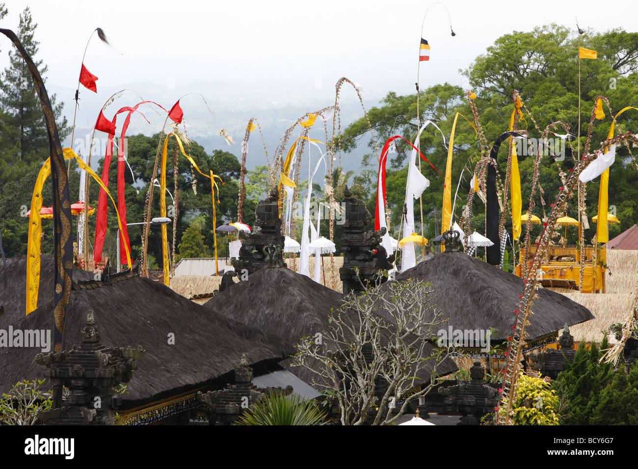Hindu New Year Festival, Pura Besakhi, held every 10 years, at Agung volcano, 2567m, Bali, Republic of Indonesia, - Stock Image