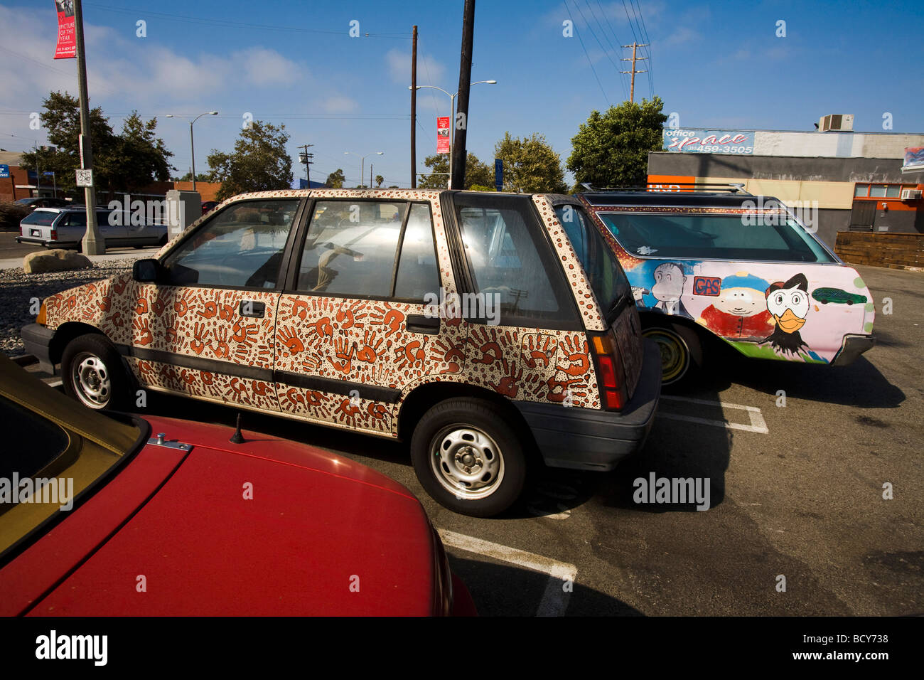 Painted Cars Venice Beach Los Angeles County United States of ...