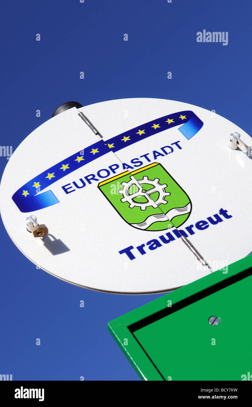 Europastadt Traunreut Stock Photo