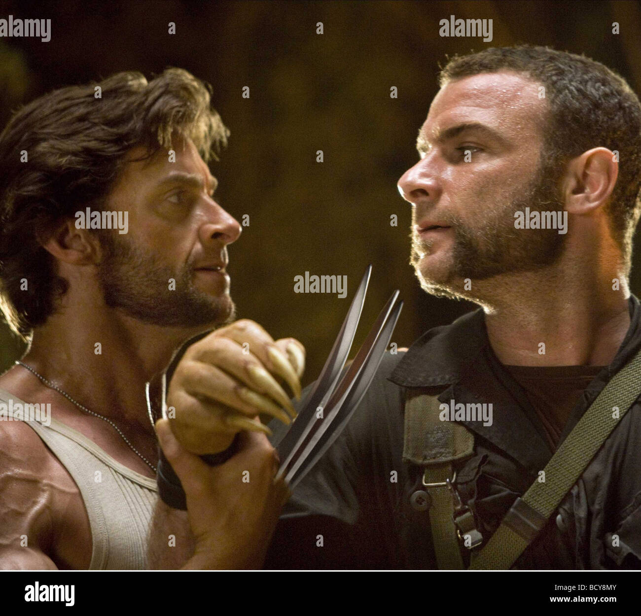 2009: Liev Schreiber Hugh Jackman X Men Stock Photos & Liev