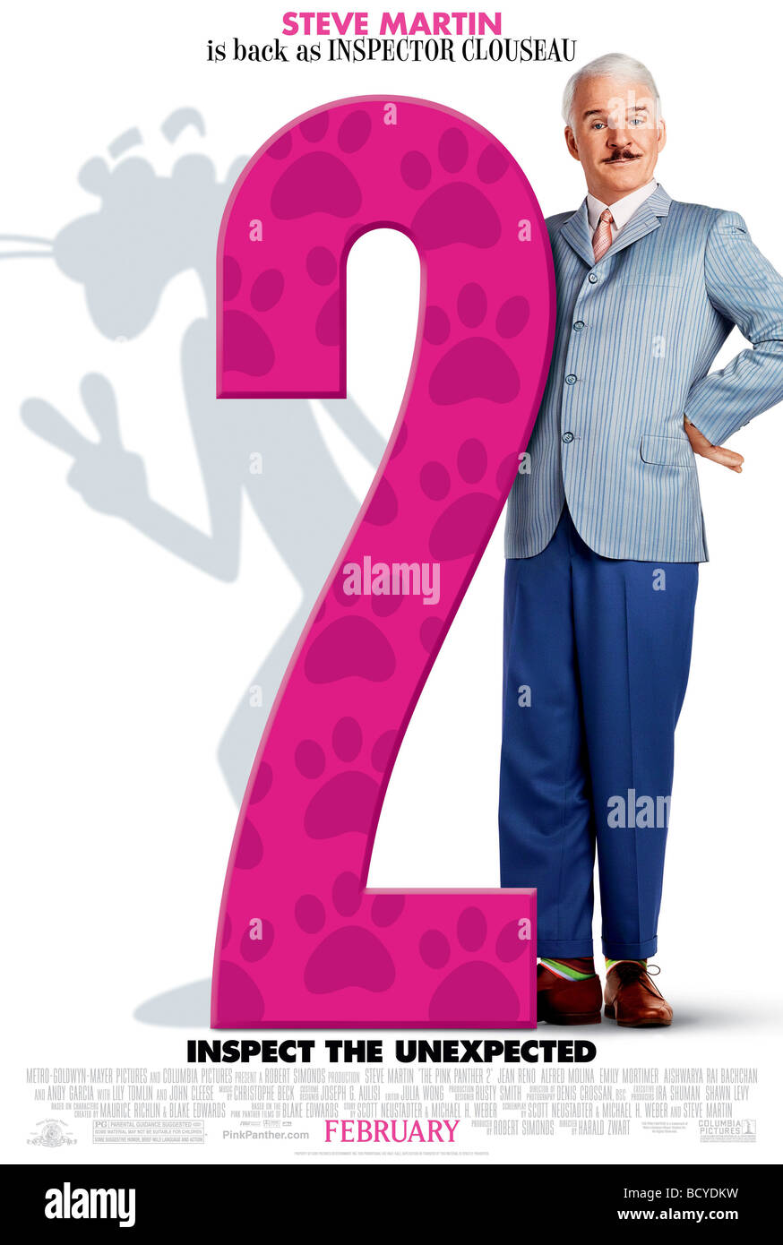 The Pink Panther 2  Year : 2009  Director : Harald Zwart  Steve Martin Movie poster (USA) - Stock Image