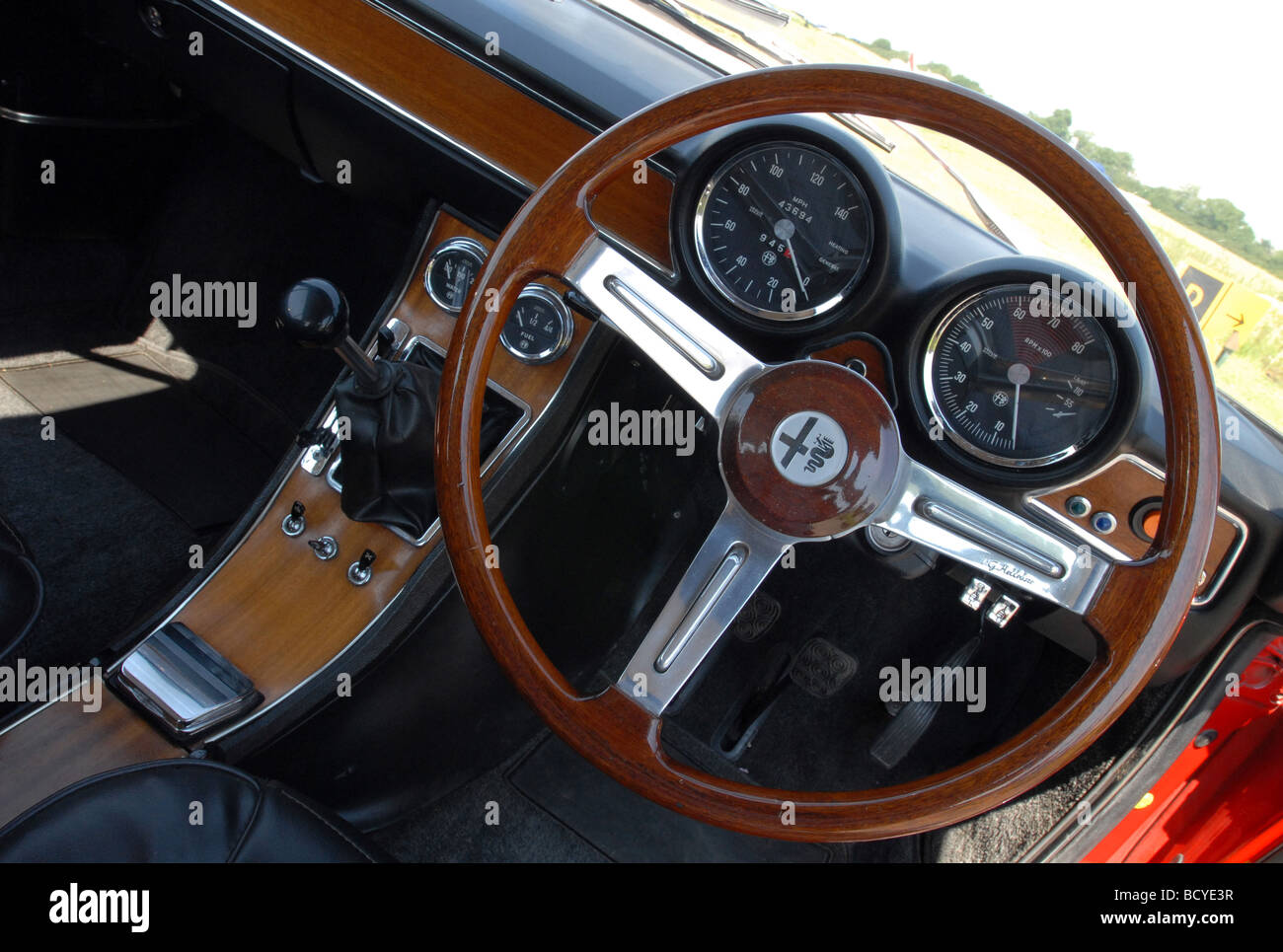 alfa romeo gtv 1750 coupe classic red italian sports car interior stock photo 25190027 alamy. Black Bedroom Furniture Sets. Home Design Ideas