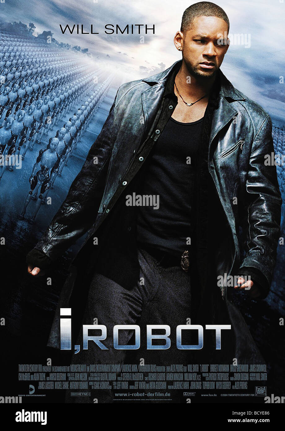I Robot Year : 2004r Director : Alex Proya Will Smith  Movie poster - Stock Image