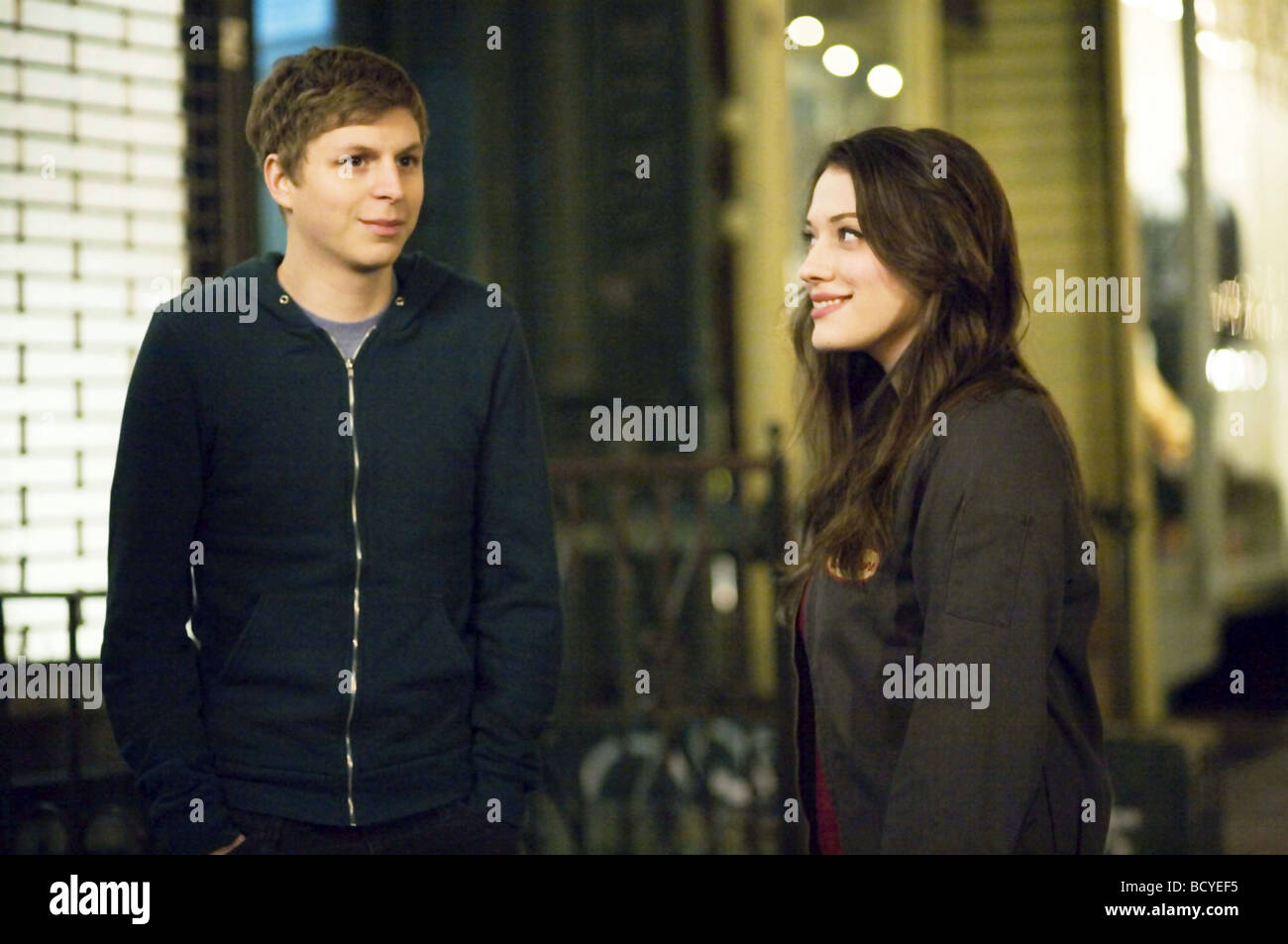 Nick and Norah's infinite Playlist Year : 2008 Director : Peter Sollett Michael Cera, Kat Dennings - Stock Image