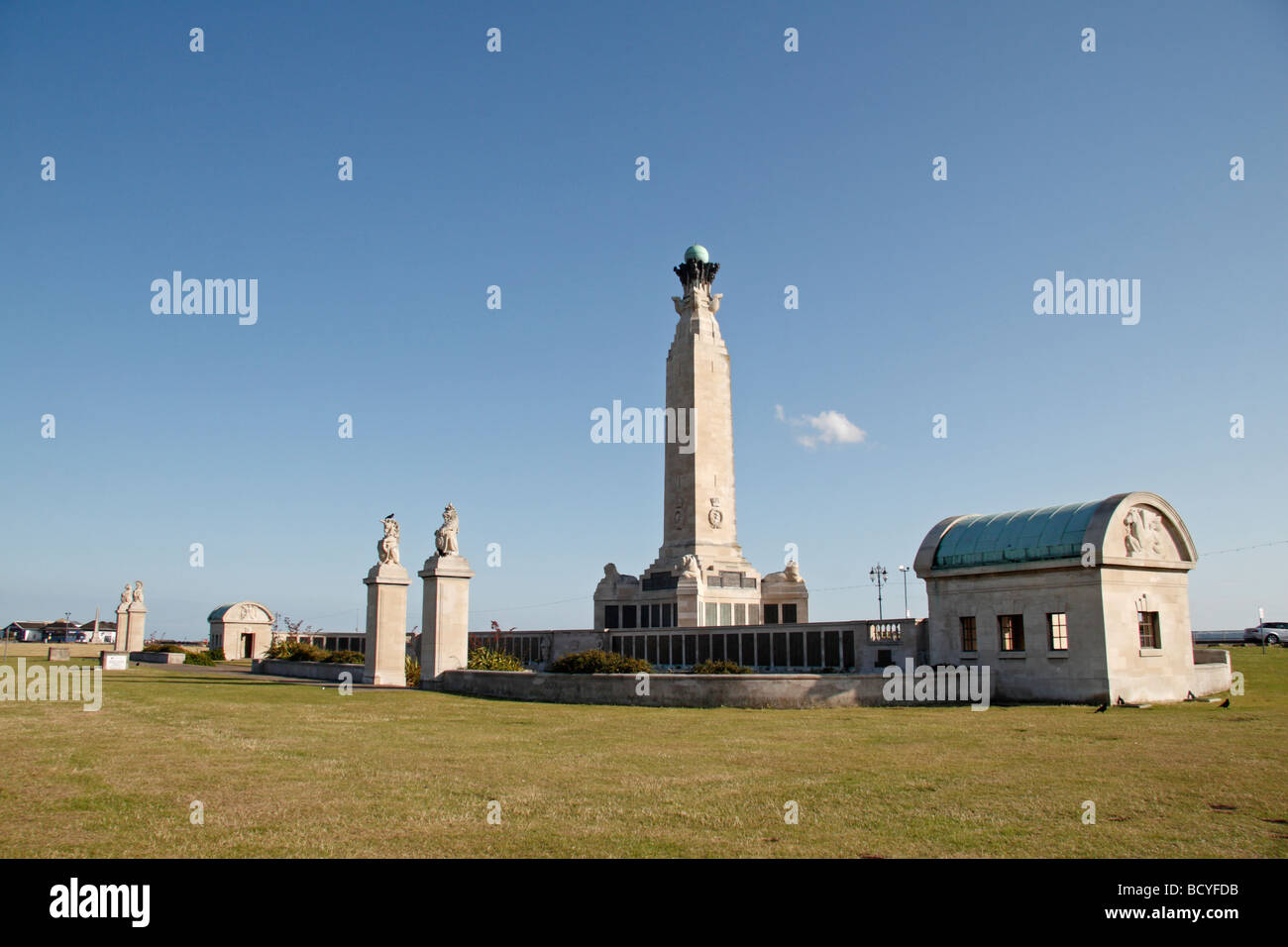 The Portsmouth Naval Memorial on the Southsea seafront, Portsmouth, Hampshire, UK. Stock Photo