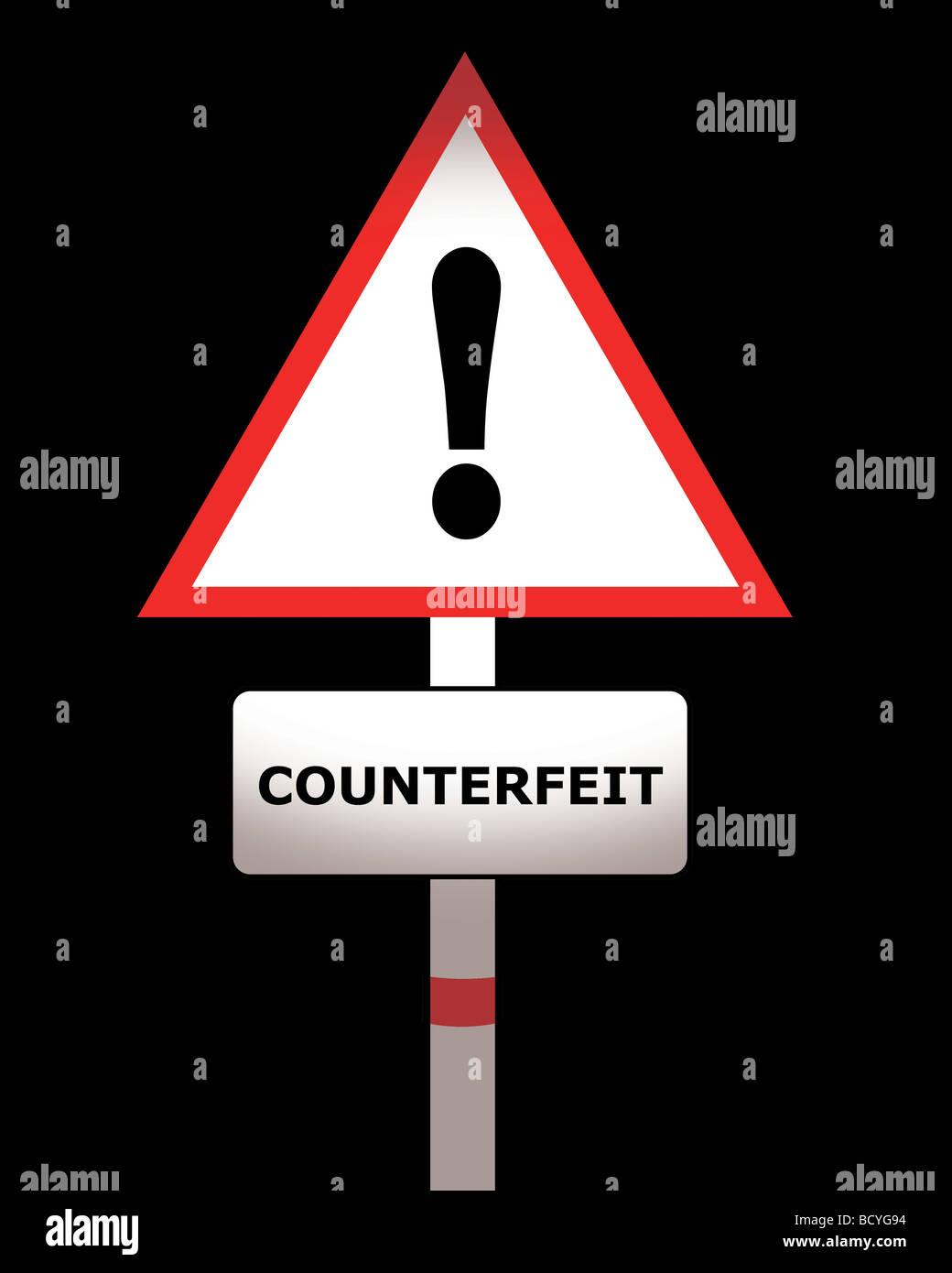 counterfeit - Stock Image