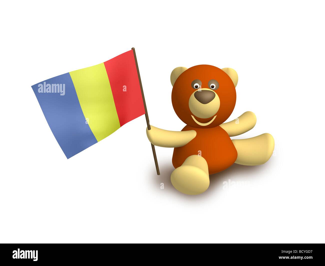 Tchad flag - Stock Image