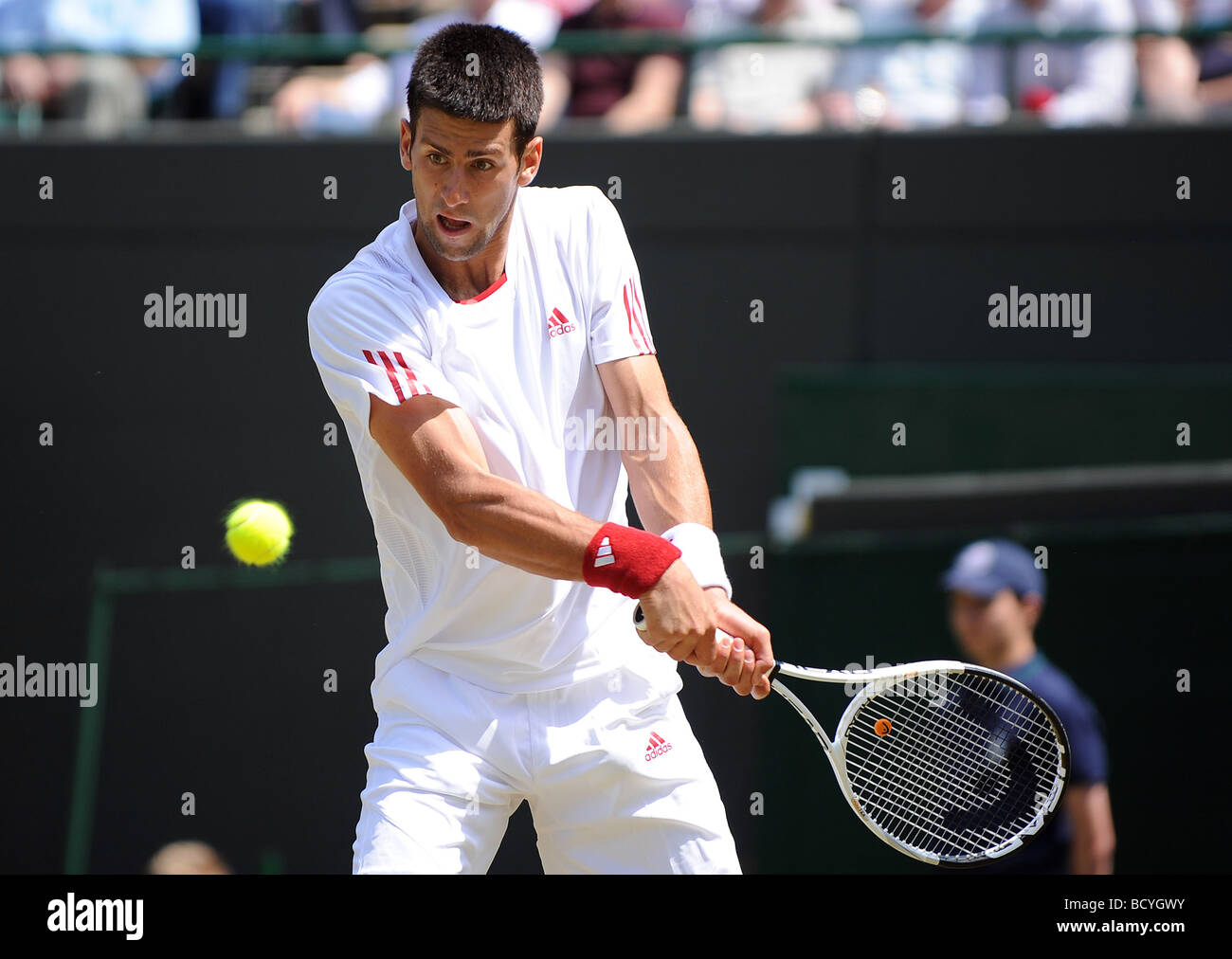 NOVAK DJOKOVIC SERBIA WIMBLEDON LONDON ENGLAND 24 June 2009 - Stock Image