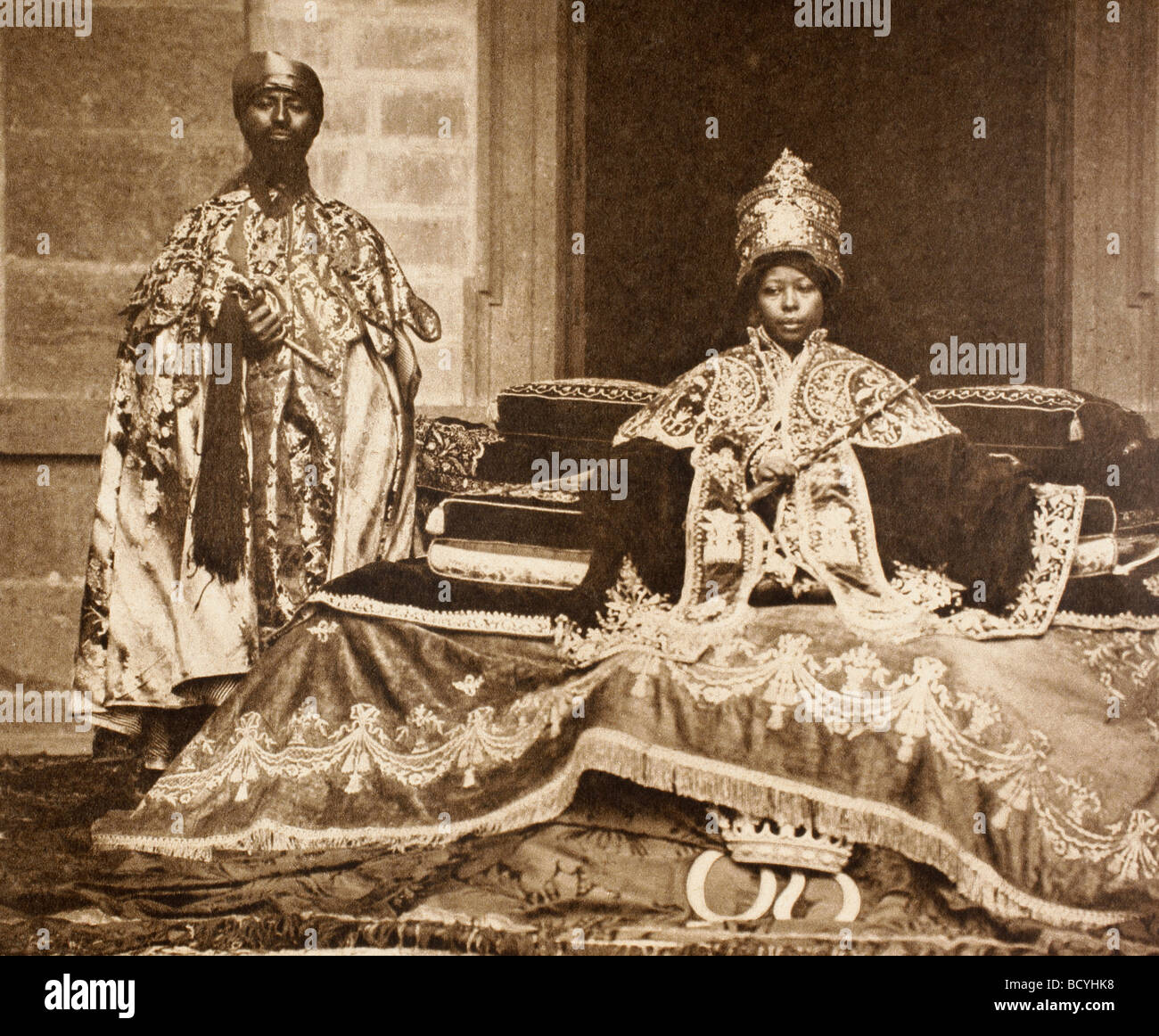 Zewditu I 1876 to 1930 Empress of Ethiopia from 1916 to 1930. - Stock Image