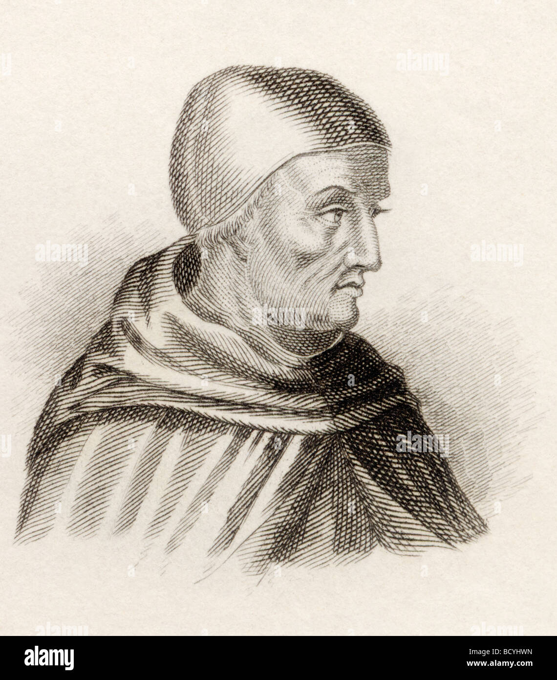 Saint Albertus Magnus born between 1193 and 1206 died 1280.  Also known as Saint Albert the Great, - Stock Image