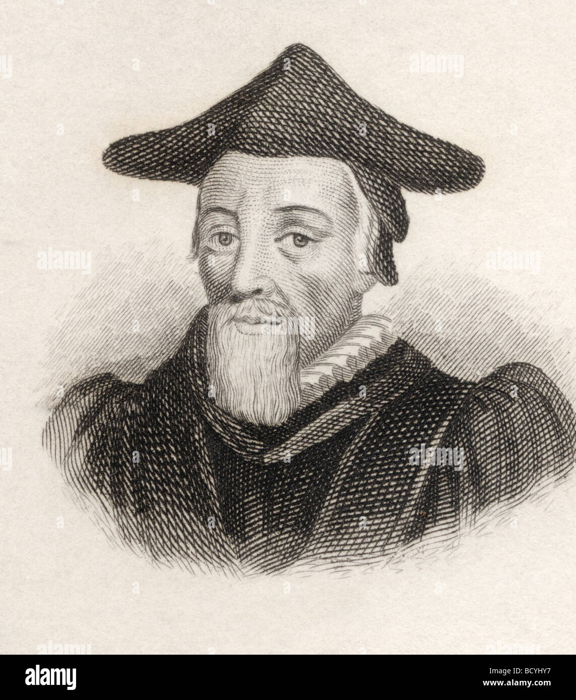 Richard Hooker 1554 to 1600.  Anglican priest and influential theologian. - Stock Image