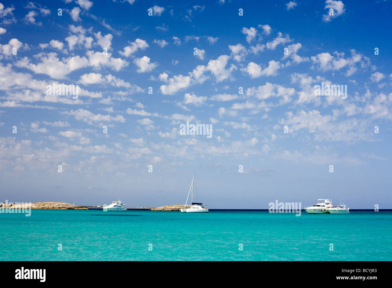 Yachts at Illetes - Stock Image