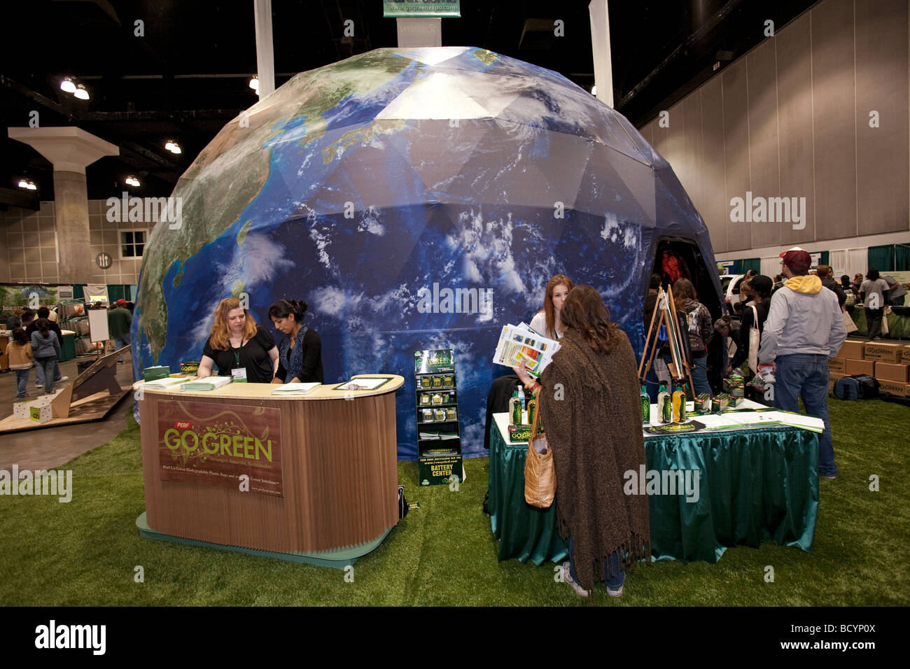 Go Green Expo, January 24 2009, Los Angeles Convention Cente - Stock Image