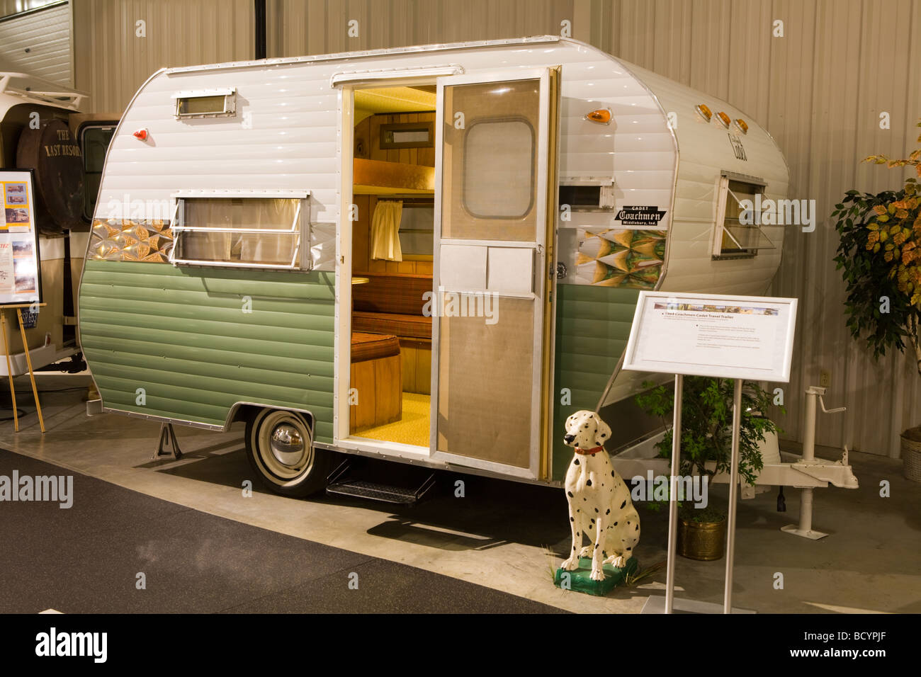 Vintage Coachmen Cadet at RV/MH Hall of Fame in Elkhart Indiana - Stock Image