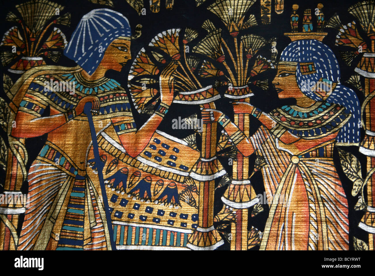 Egyptian lotus stock photos egyptian lotus stock images alamy egyptian papyrus painting showing two lovers with lotus flowers stock image izmirmasajfo