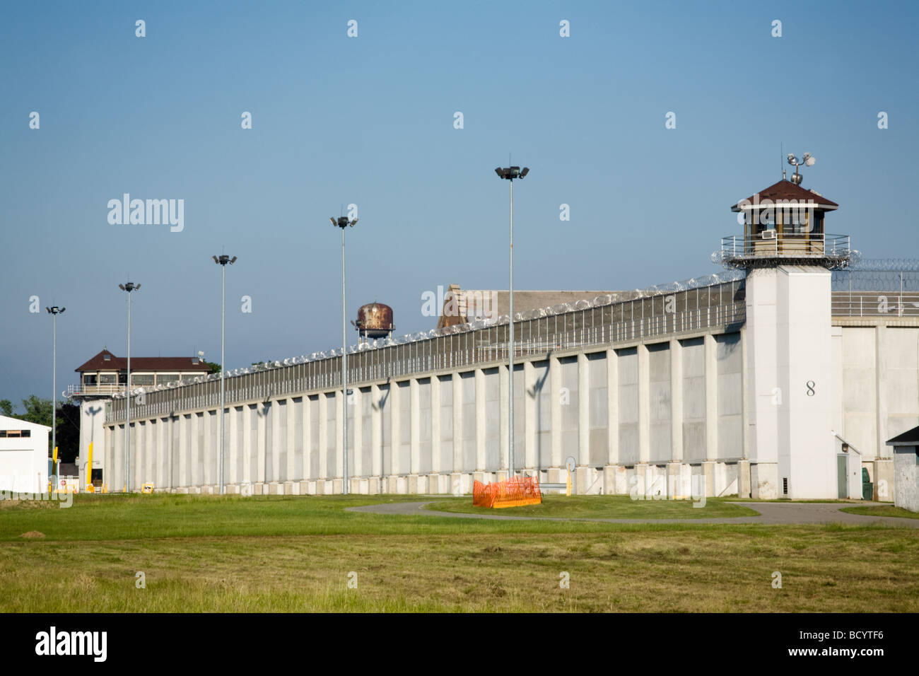 Indiana State Prison maximum security in Michigan City once held John Dillinger - Stock Image