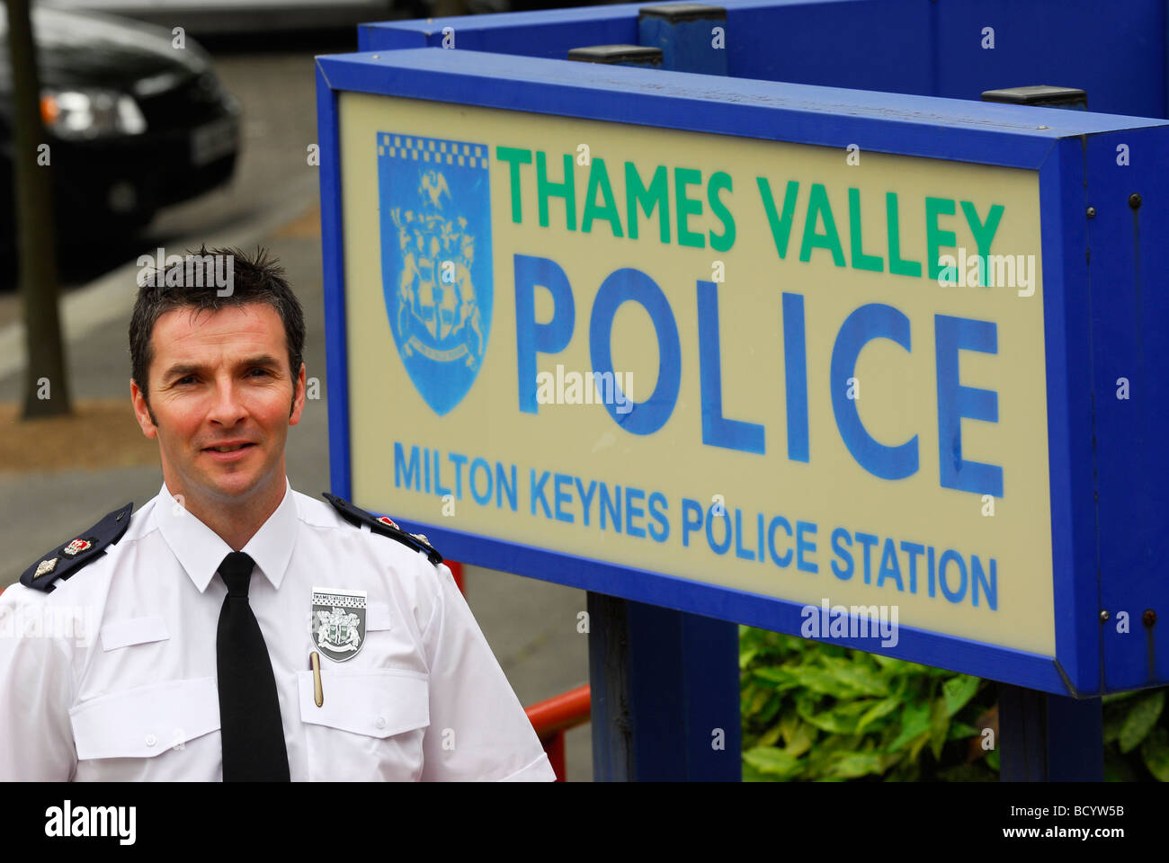 Commander Alan Baldwin of the Thames Valley Police Force - Stock Image