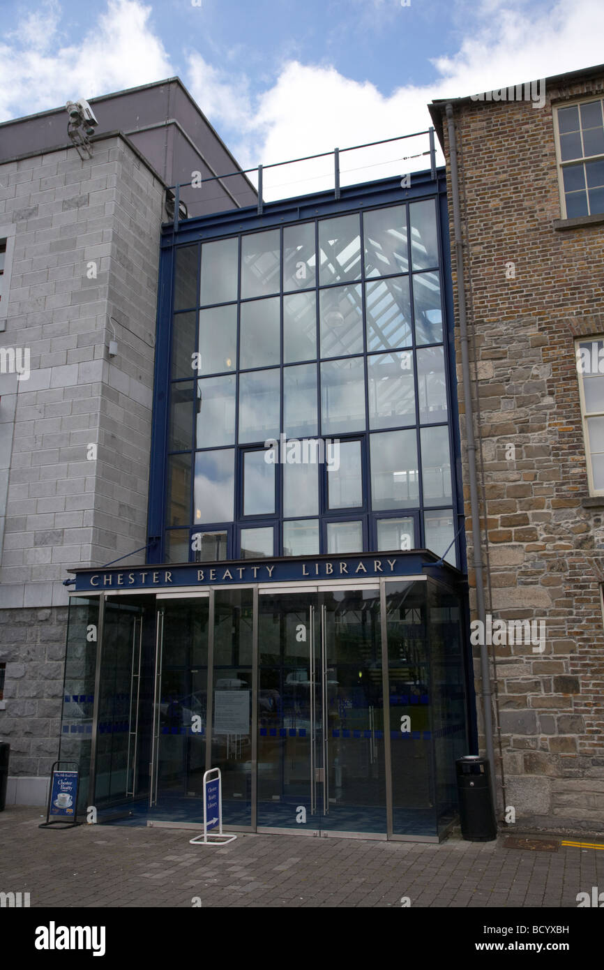 The Chester Beatty Library in the grounds of Dublin Castle dublin republic of ireland - Stock Image