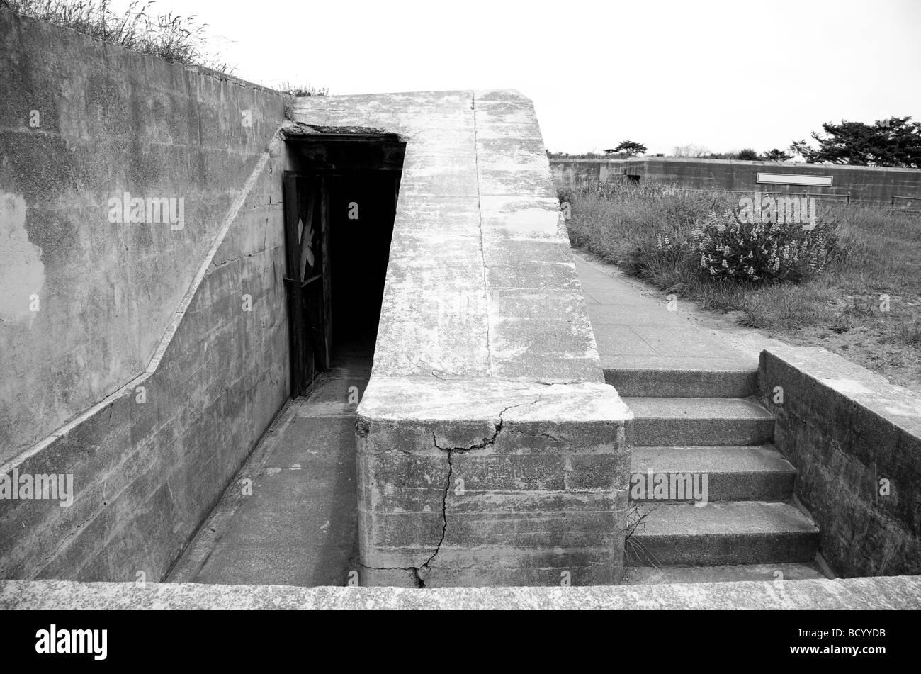 Fort Worden military bunker in Port Townsend Washington  - Stock Image