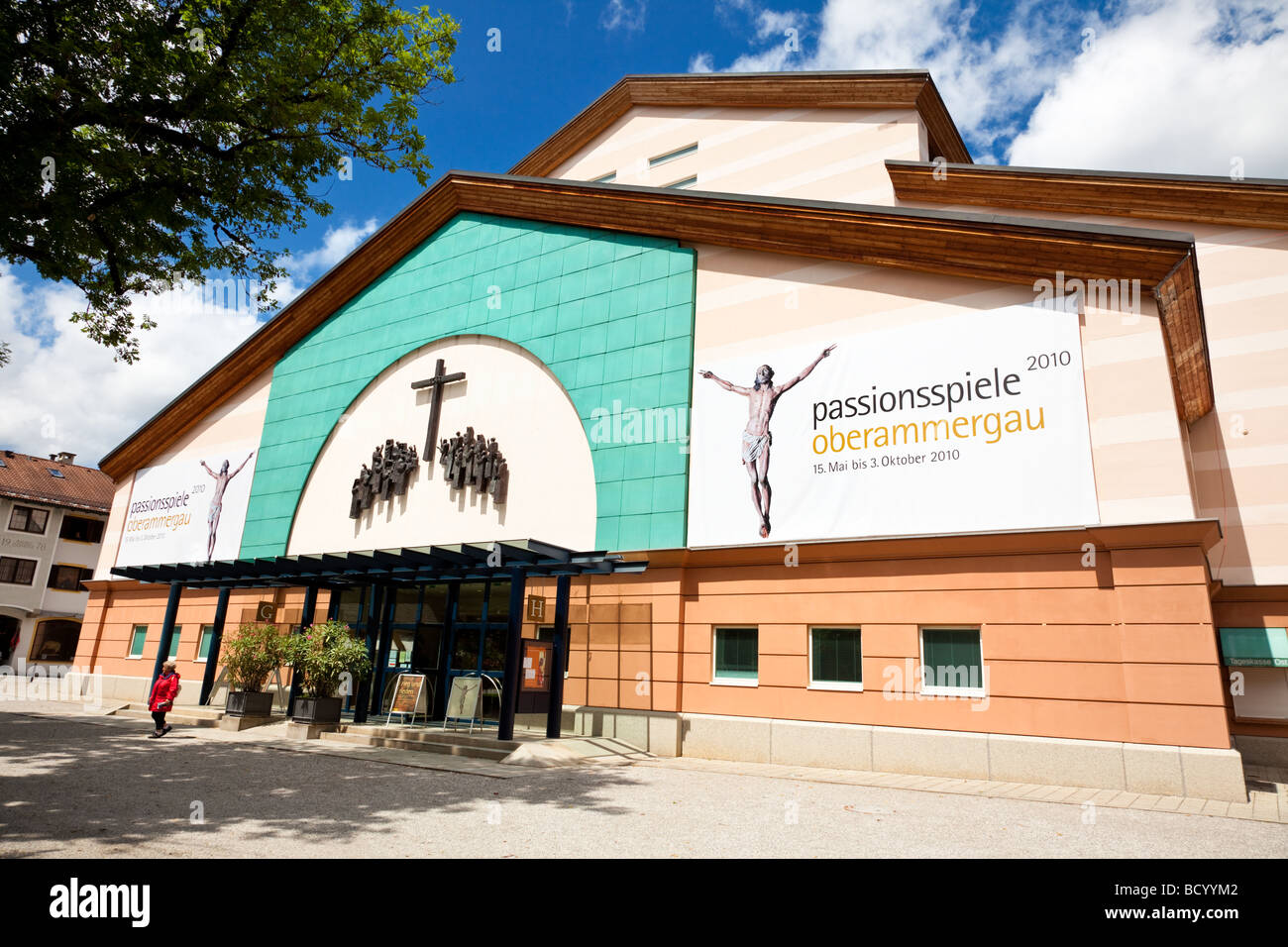 Oberammergau Passion Play Theatre, Bavaria Germany - Stock Image