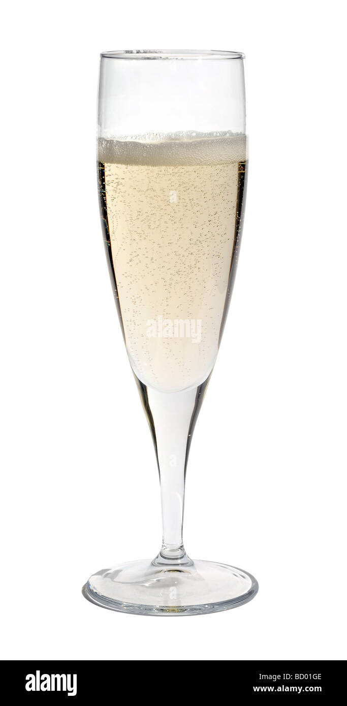 Glass of champagne - Stock Image
