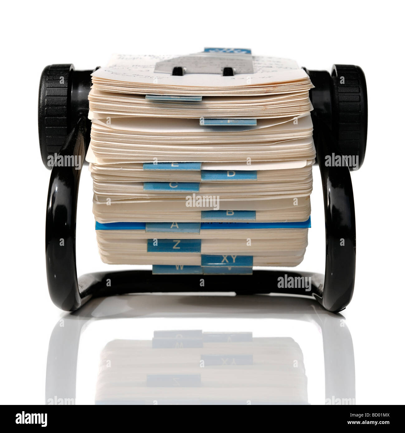 Rolodex card index file - Stock Image
