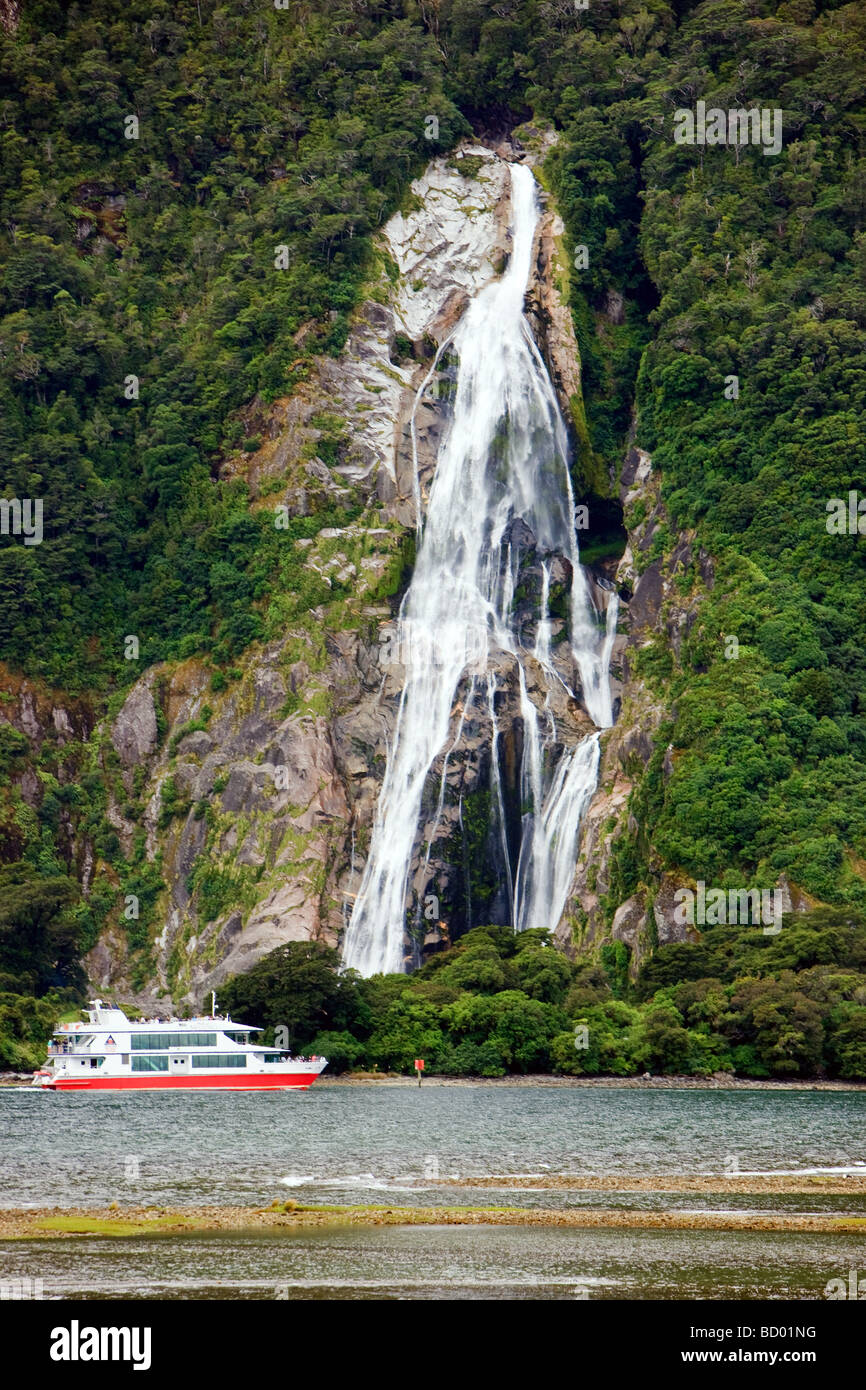 Milford Sound South Island New Zealand - Stock Image