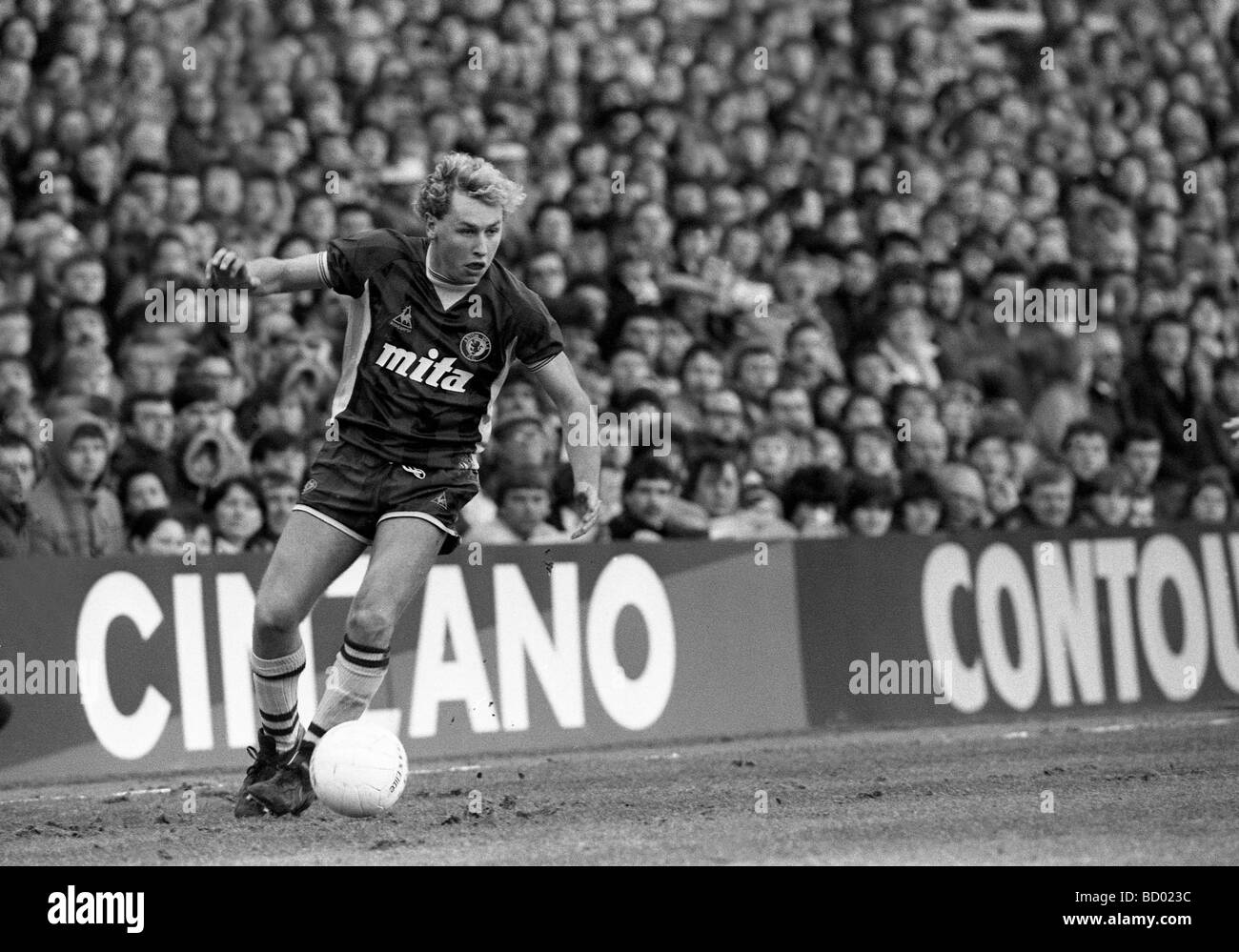 Aston Villa v Manchester United at Villa Park Paul Birch footballer who died of cancer in 2009 - Stock Image