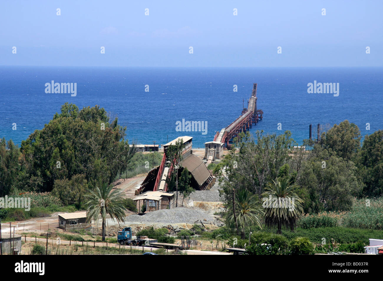 Cmc Stock Photos Images Alamy Motorcycle Wiring Diagram The Now Derelict Pier Of Or Cyprus Mining Corporation Used For Loading Copper Ore