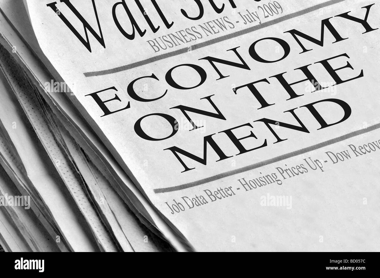 Newspaper Headlines Economy Stock Photos Newspaper Headlines