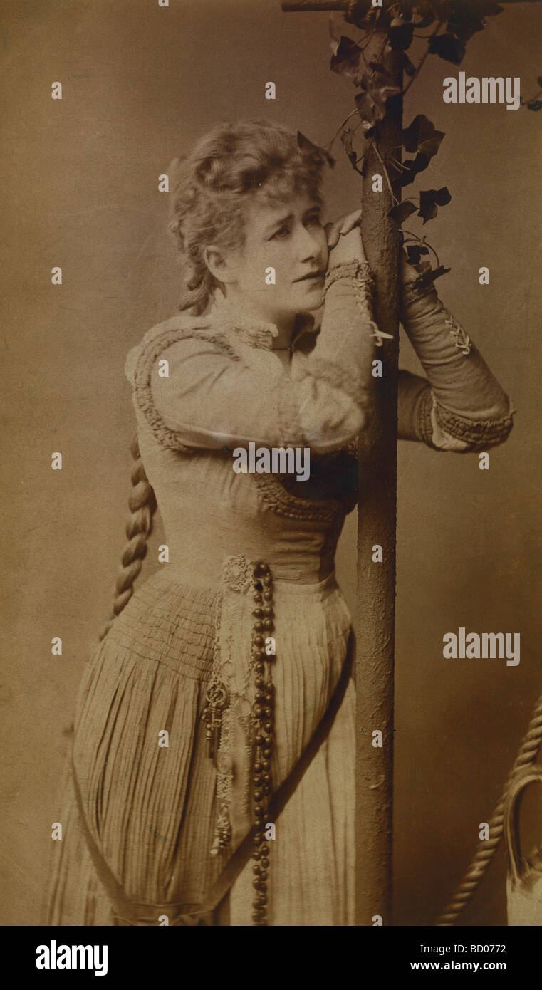 Ellen Terry in Faust. London, England, 19th century - Stock Image