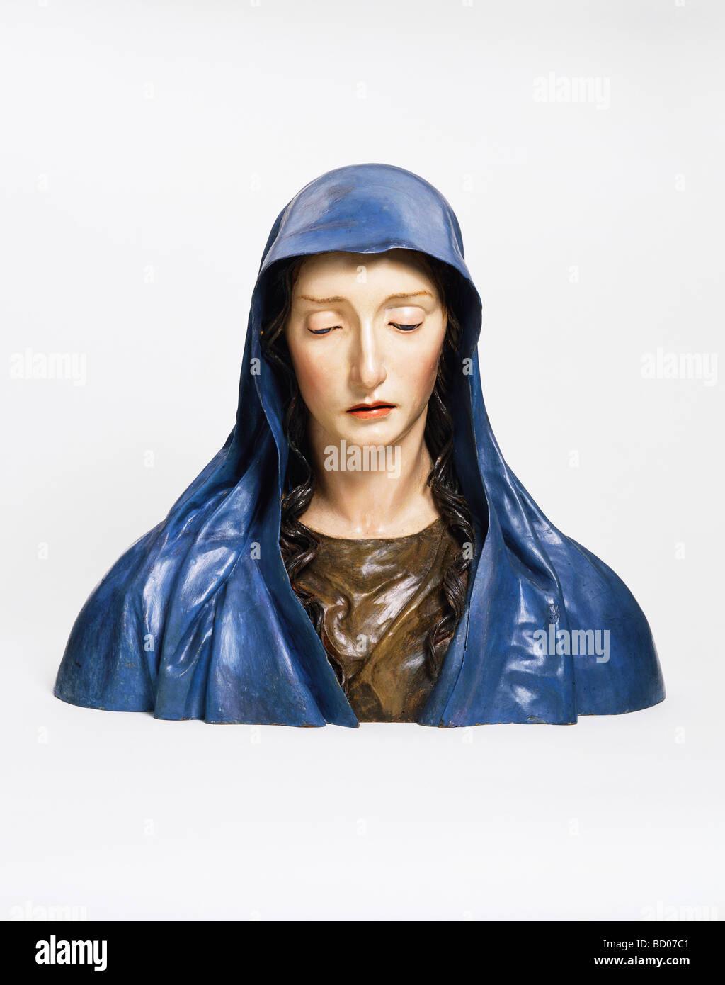 The Virgin of Sorrows, by José de Mora. Granada, Spain, late 17th century Stock Photo