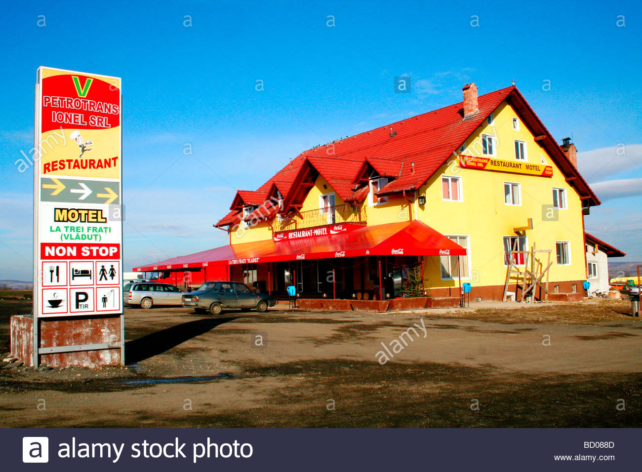 Europe, Romania, one of many who meet Motel along the roads - Stock Image