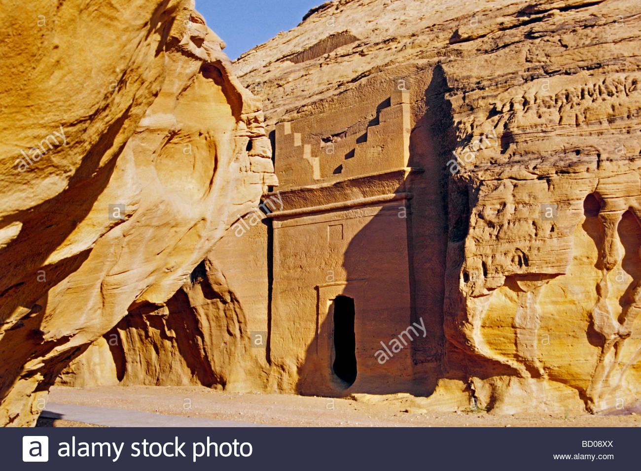 dedan necropolis, saudi arabian, asia - Stock Image