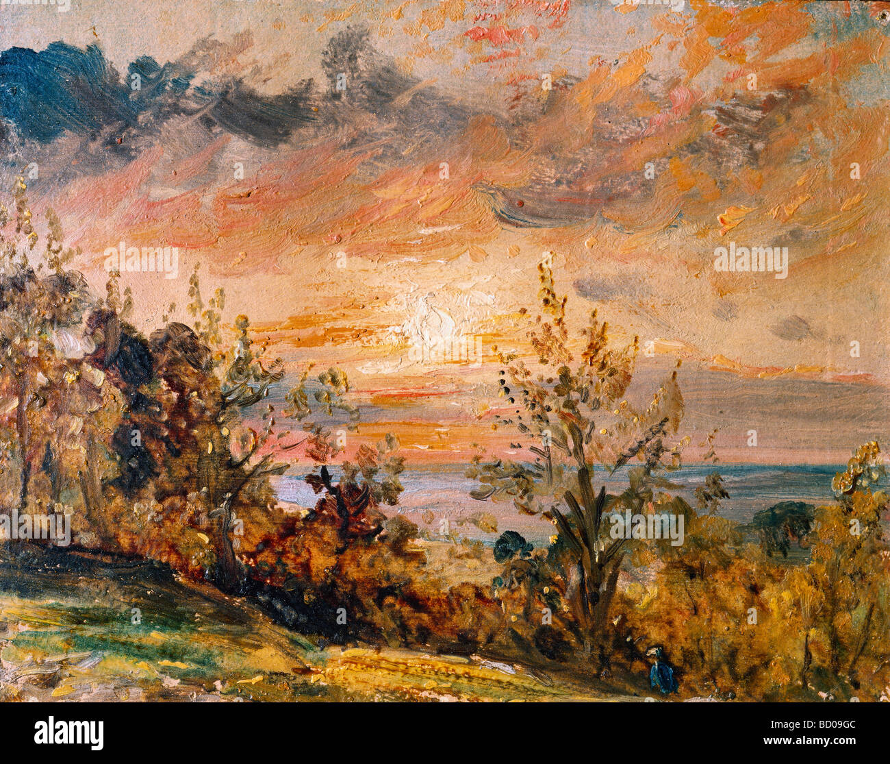 Sketch at Hampstead, by John Constable. London, England, 1820 - Stock Image