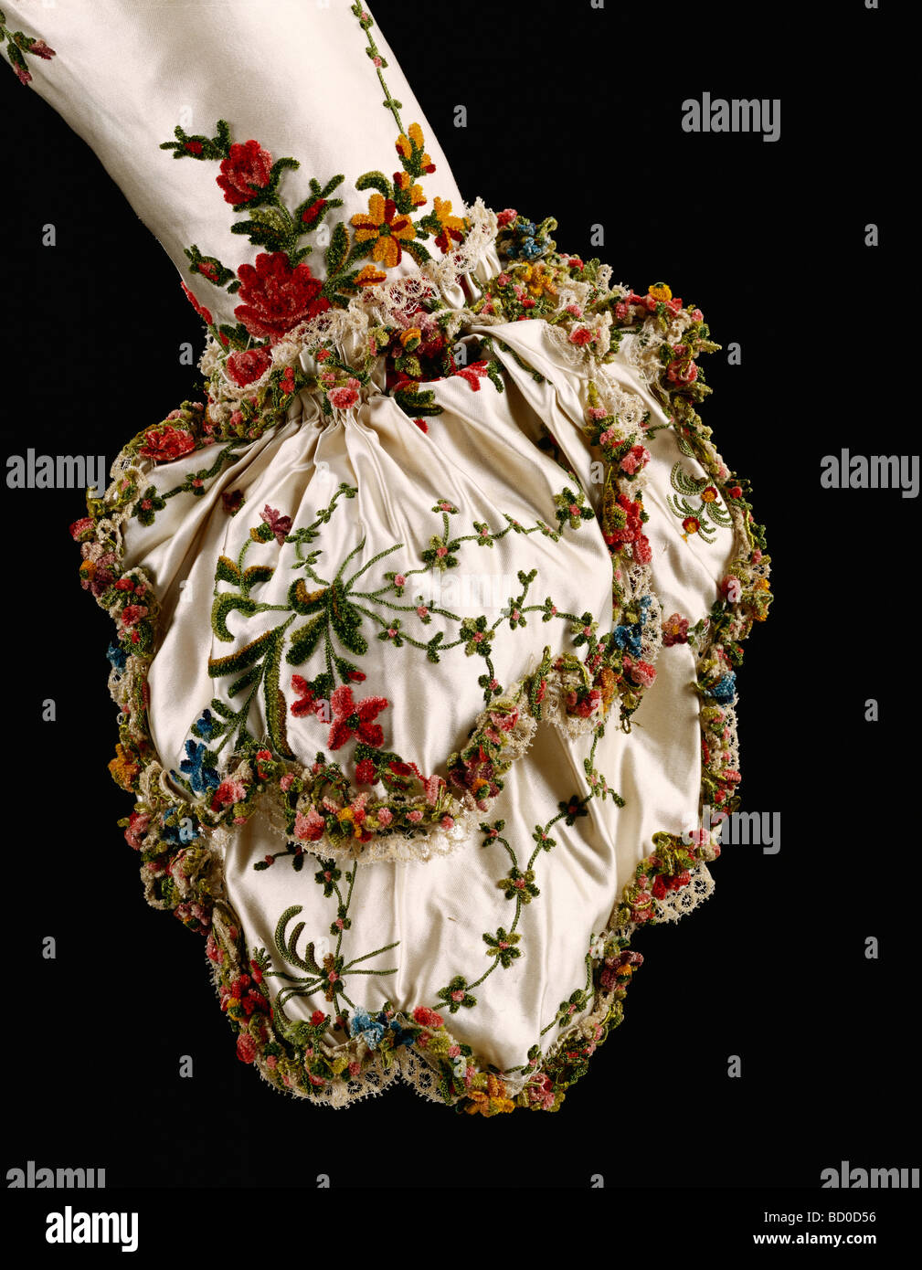 Sleeve, detail. England, late 18th century - Stock Image