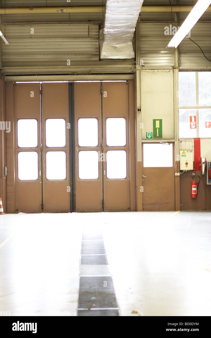 Garage Doors In A Fire Station Stock Photo 25211864 Alamy