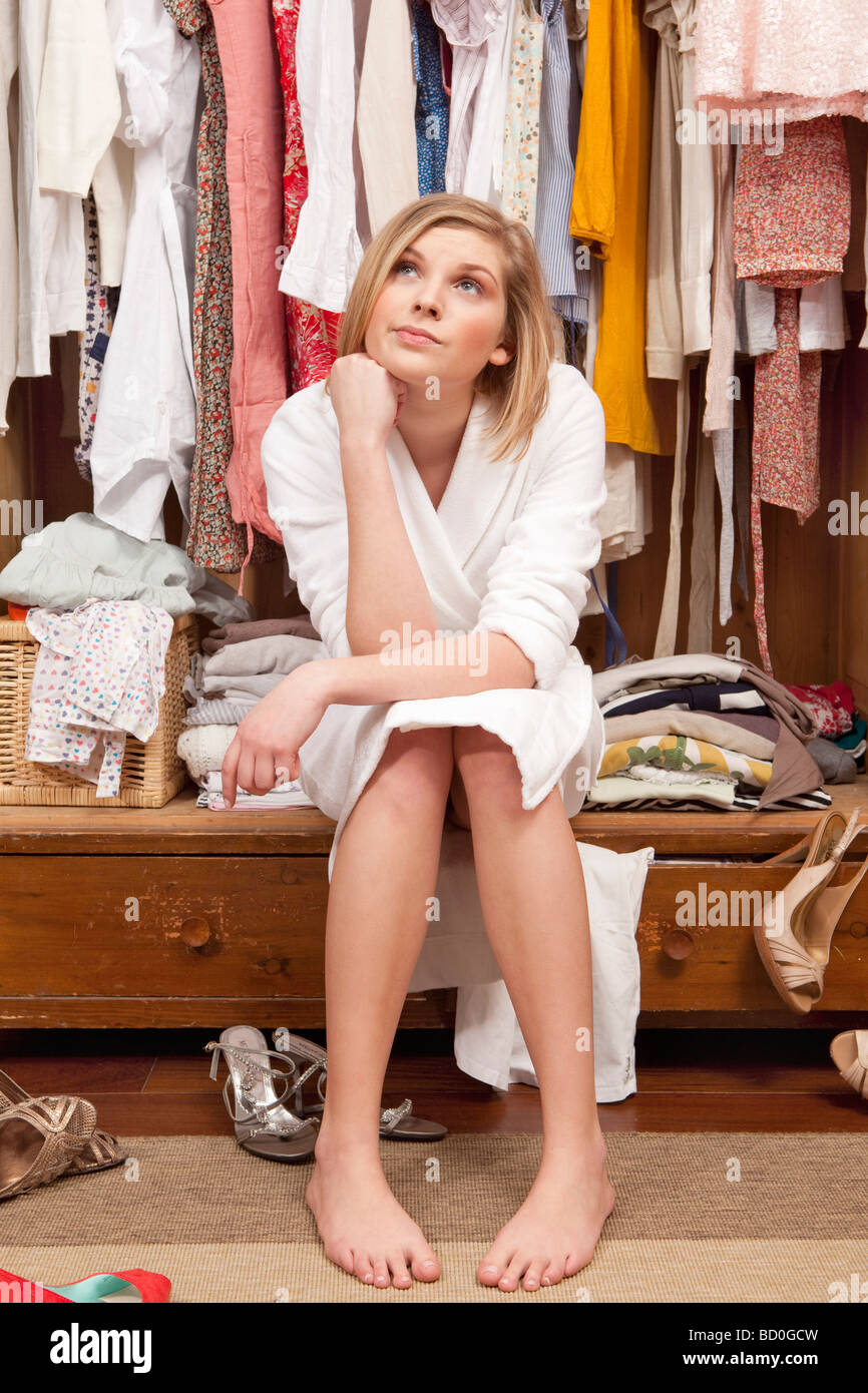 Woman in the closet