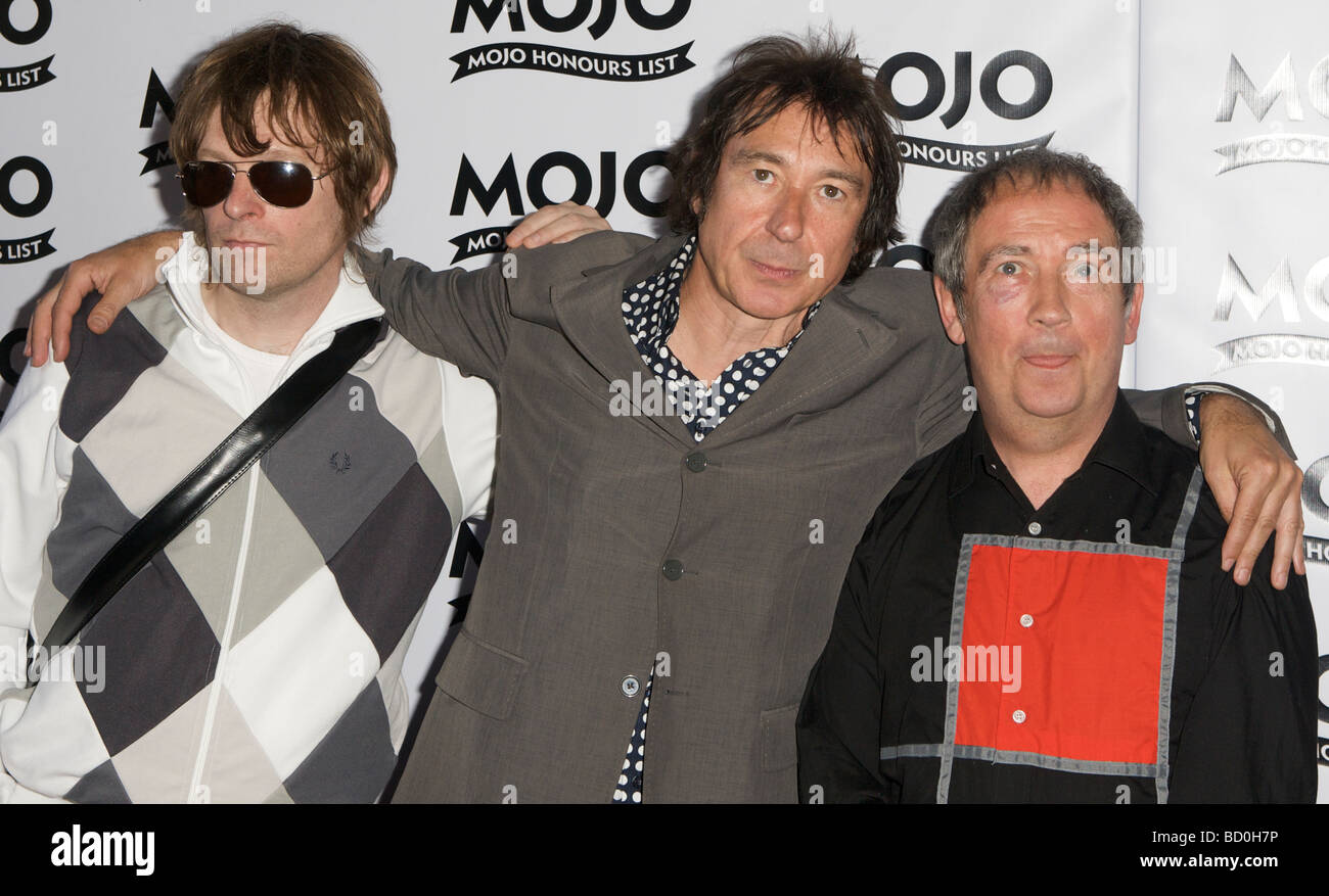 LONDON 11 June Pic shows Buzzcocks attending the Mojo Honours List The Brewery London 11th of June 2009 - Stock Image