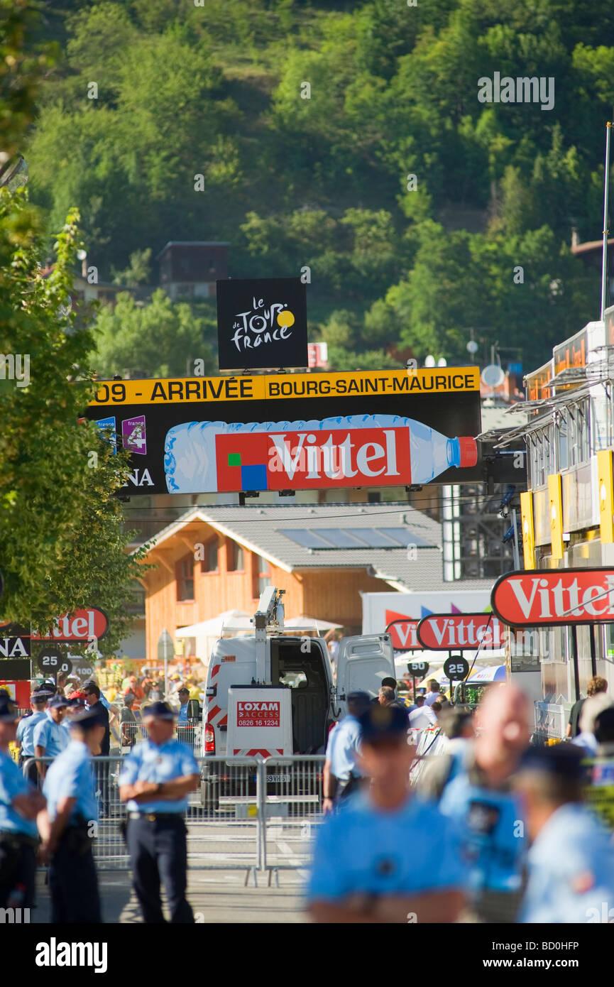 Arrival area Bourg St Maurice Le Tour de France 2009 - Stock Image