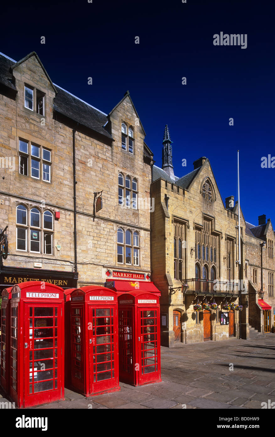 A view of Durham Town Hall and Marketplace, Durham City - Stock Image