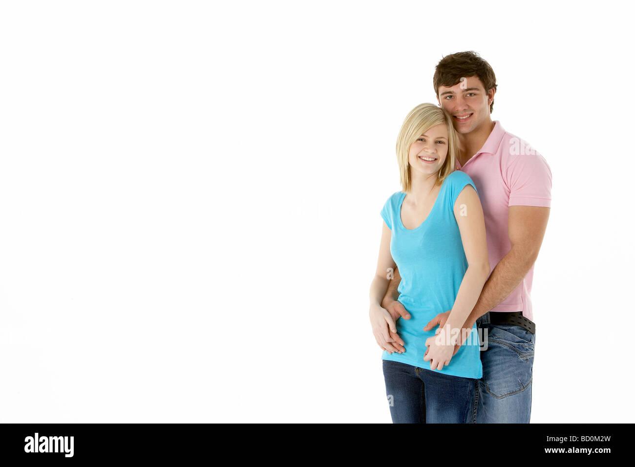 Teenage Couple In Studio - Stock Image