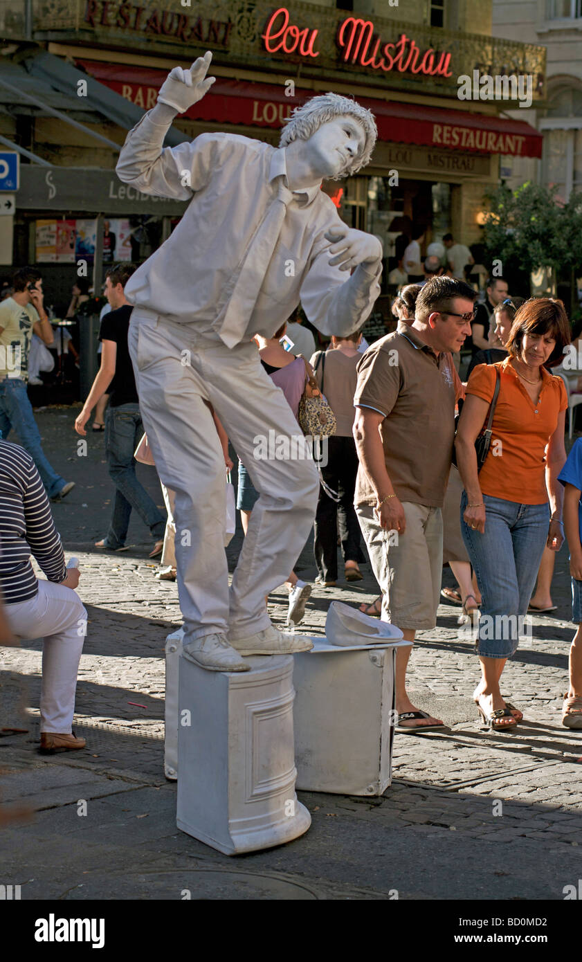 Living statue - Stock Image