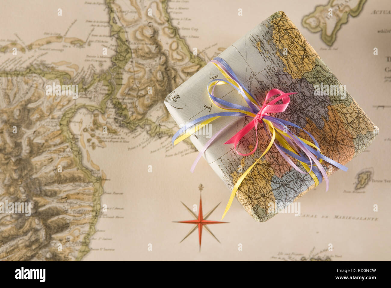 Gift for 'bon voyage' party - Stock Image